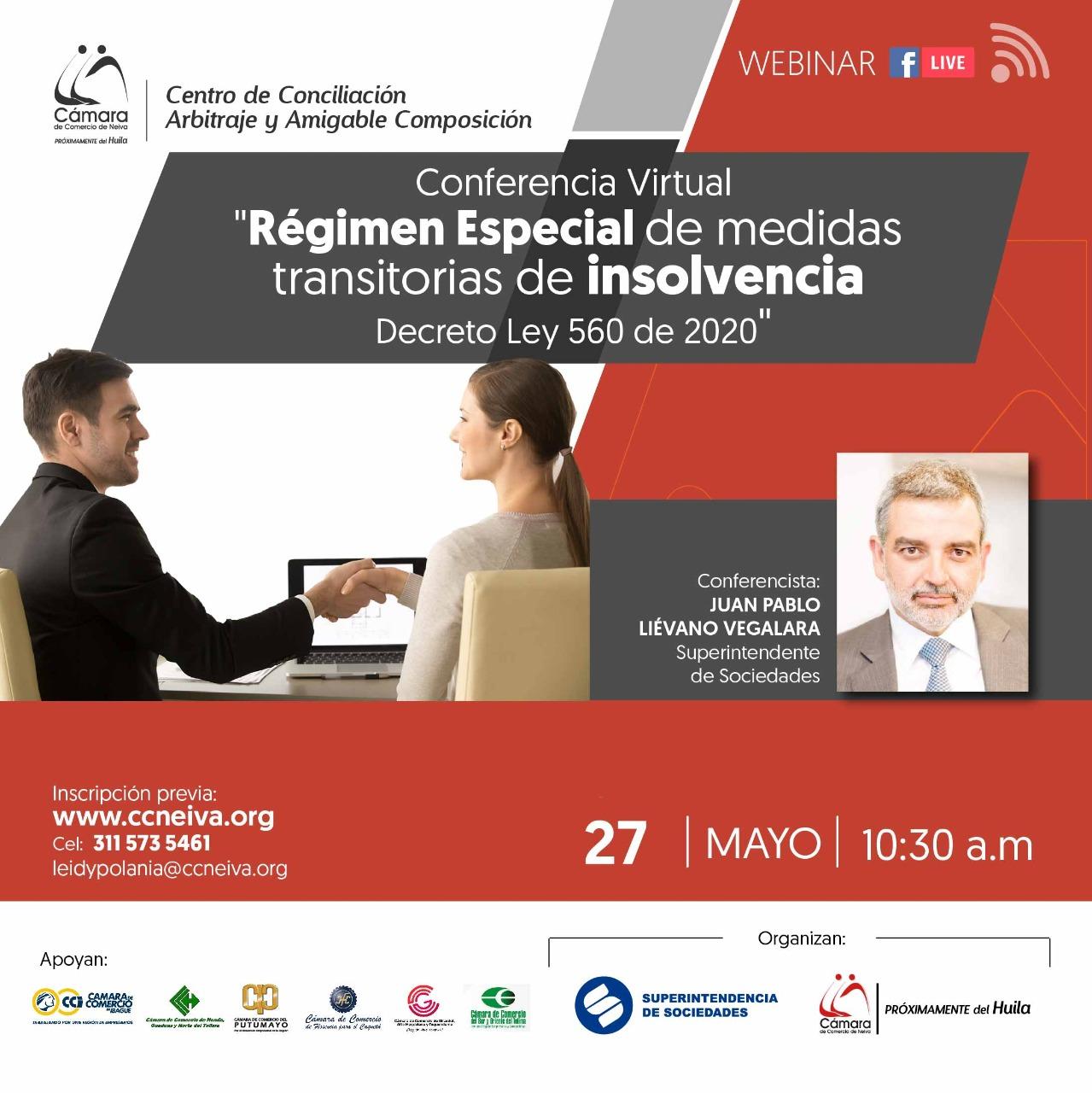 Conferencia: Régimen especial de medidas transitorias de insolvencia