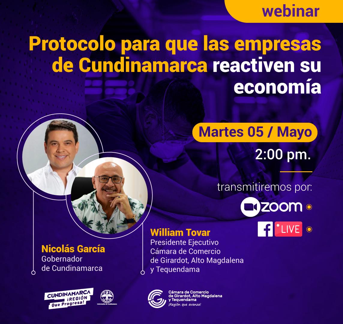 webinar Protocolo para que las empresas de Cundinamarca reactiven su economía